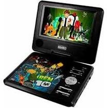 Dvd Portátil Infantil Disney Ben10 7 Pol. Tv Controle Jogos