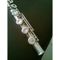 Flauta Transversal Armstrong 80 Prata Maciça Pé Em B