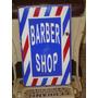 Placa Esmaltada Barber Shop - Barbearia Antiga