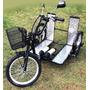 Triciclo Elétrico Para Cadeirante 500 W 36 V Cilíndrica 10ah