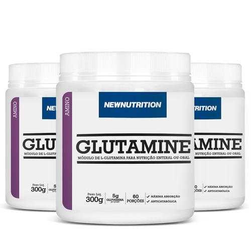 Glutaminas 3 Unidades Com 300g Cada Pronta Entrega ! Original