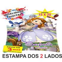 40 Almofadas Personalizadas 15x20 Lembrança Princesa Sofia