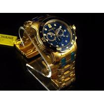 Relogio Masculino Invicta Pro Diver 0073 Banhado Ouro 18k