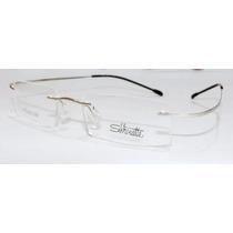 Armação Oculos Grau Flex Silhouette Titanium Sem Aro Prata
