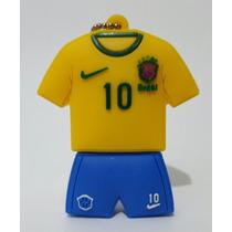 Pendrive Camisa Uniforme Brasil Seleção Futebol 8 Gb