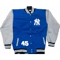 Blusa College Unisex Ny New York Baseball Moleton Grosso