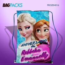Sacolinha Mochila Aniversario Infantil Personalizada Frozen