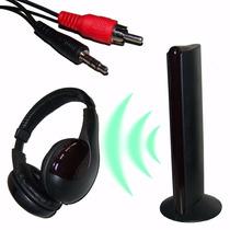 Fone De Ouvido Sem Fio Wireless 5x1 Rádio Fm Tv Pc Skyp Cp29