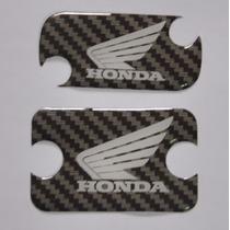 Adesivo Relevo Tampa Fluido Freio Carbon Moto Honda Bros 160