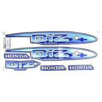 Kit Jogo Adesivo Moto Honda Biz100+ 2002 Azul + Brinde