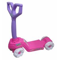 Patinete Mini Scooty Calesita Brinquedo Rosa Lilas