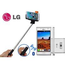 @258 Bastão Monopod Pau Selfie Bluetooth Original Lg Leon