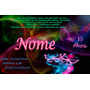 Convite Balada Neon Personalizado-- Unidade