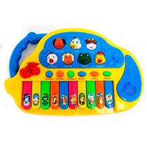 Brinquedo Musical Teclado Educativo Com Som De Animais - Cks