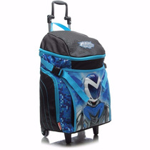 Mochila De Rodinha Infantil Sestini Gg 16z Azul Max Steel