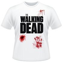 Camiseta The Walking Dead Série Amc Sangue Camisa