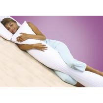 Travesseiro Corpo Grande 148x48cm - + Fronha Percal 180 Fios