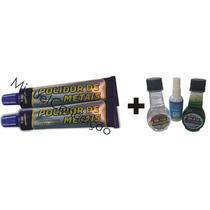 2 Polidores De Metal Cobre Níquel + Fluido Limpeza Parabrisa