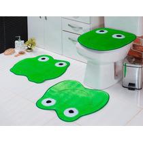 Jogo De Banheiro 3 Peças Formato Sapo