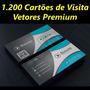 Vetores Cartões De Visita Corel Illustrator Photoshop Vetor