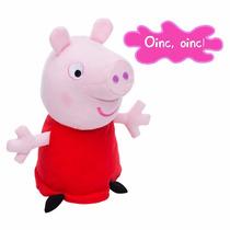 Pelúcia Peppa Pig Interativa Com Som 30 Cm Estrela Original