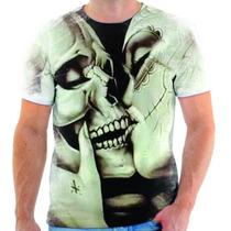 Camiseta Camisa Caveira Mexicana Beijo Kiss Skull Florida 14