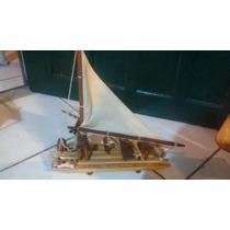 Barco A Vela De Madeira Artesanal 25cm Aproximadamente Barca