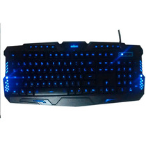 Teclado Iluminado 3led Multimídia Action Gamer Anti-ghosting