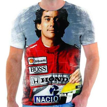 Camiseta Do Ayrton Senna Estampada - 1
