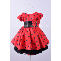 Vestido Da Minnie Vermelha 1 Ano
