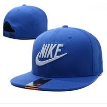 Bone Aba Reta Nike Azul Importado Original Ajustável
