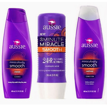 Kit Aussie C/3 Itens Shampoo+cond.+3mintos Smooth