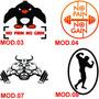 Adesivo Personalizado Musculação P/ Carro,moto,note,vidros..