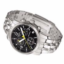 Relógio Tissot Prc200 - Prata Preto Social Funcional 12x