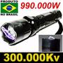 Lanterna De Choque Led Tatica 300.000kv Taser Recarregavel
