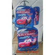 Lançamento Mochila 3d Lancheira E Estojo Carros Mc Queen