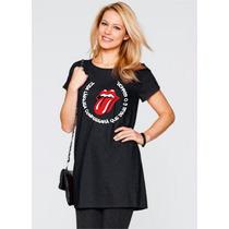 Camiseta Blusa Alongada Long Tee Feminina Evangélica Cristã