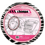 Capa Volante Automotivo Fashion Zebra Rosa Chimpa