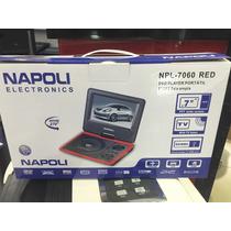 Dvd Portátil Napoli Com Suporte Veicular Usb Sd Tv