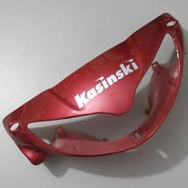Carenagem Frontal Farol Vermelha Win 110 Kasinski Até 2009