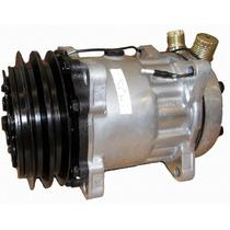Compressor 7h15 8 Orelhas 12volts - Polia 2a Saída Vertical