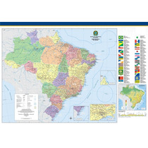 Mapa Grande Mundo Do Brasil Sc Rs Hd Decoração Sedex Grátis