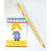 100 Bloquinhos Personalizados 7x10cm + 100 Lápis