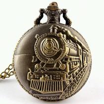 Relógio De Bolso Colar Vintage Locomotiva