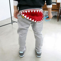 Calça De Moleton Menino Tubarão