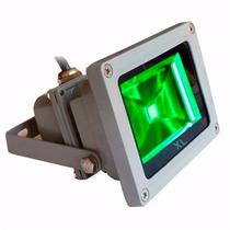 Refletor De Led Bivolt Prova Dagua Verde 20w Ip65