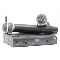 Microfone S/ Fio Profi. Duplo Uhf Leap Lp 5537 Similar Shure