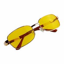 Óculos De Visão Noturna Lente Amarela Uv-400