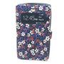 Capa Carteira Floral Com Visor Para Nokia Lumia 520 - Roxa