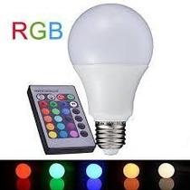 Super Lâmpada Bulbo Led Rgb 15w E27 110-220v + Controle